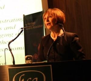 Patricia speaking