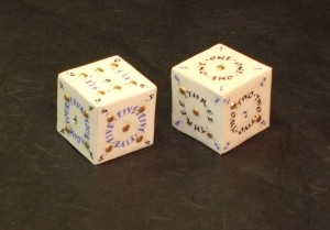 Finished illuminated dice