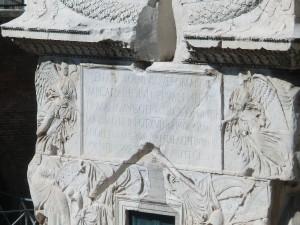 Lettering at the base of Trajan's Column