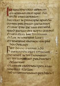 St Cuthbert Gospel, f. 1