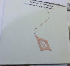 Kite piece, gesso laid
