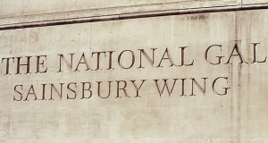 Sainsbury wing lettering