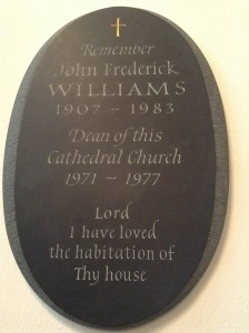 Dean Williams plaque