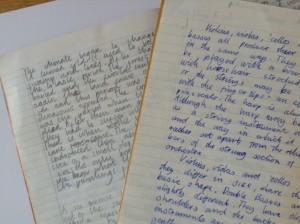children's handwriting