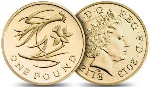 UK £1 2013-W