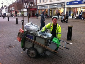 St Albans Street sweeper