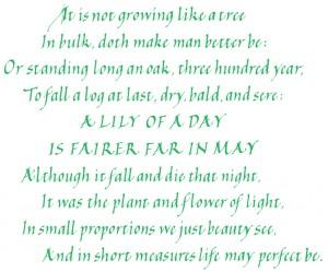 Ben Jonson's poem