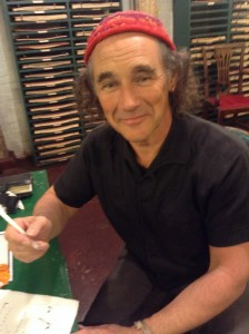 Mark Rylance and his quill