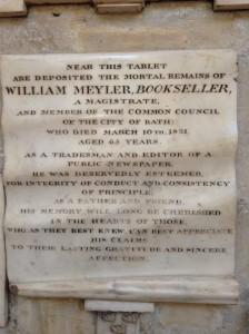 Memorial in Bath Abbey