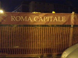 Rome street sign
