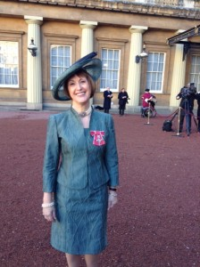Patricia Lovett and her MBE