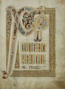Chi rho in St Gall Gospel