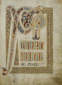 Chi rho in St Gall Gospel