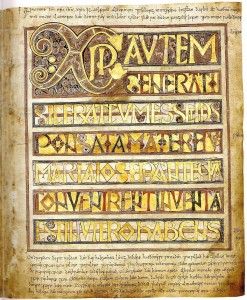 Chi rho from Stockholm Codex Aureus