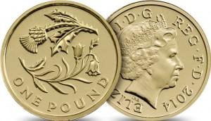 UK £1 Scots 2014