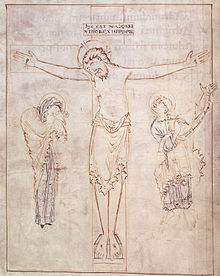 psalter_of_oswald_-_harley_2904_f3v_crucifixion